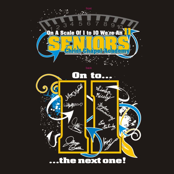 Shirt Art Senior Class Custom T Shirts Designs School Spiritwear