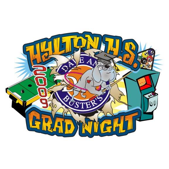 2018 Senior Class T-Shirt for a Grad Night Celebration 4 color Process Printing